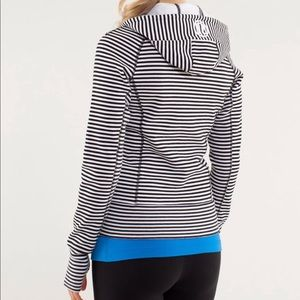 lululemon athletica Tops - lululemon Scuba Hoodie *stretch striped 4/XS